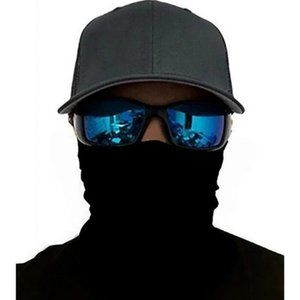 Other - Neck Gaiter Solid Black Ski Mask Mouth Cover